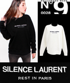 【HOLLYWOOD MADE】SILENT LAURENTスウェットトップス