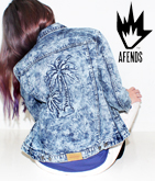 【AFENDS】PALM TREE DENIMジャケット