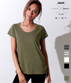 [A.C.D.Y]シンプルTシャツ