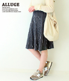 ストライプジャガード裏毛スカート【別売りSETUP】