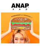 ハンバーガー/ホットドッグエナメルクラッチバッグ