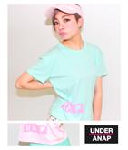 『UAP』BOXロゴプリントパステルTシャツ