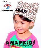 アニマル柄ロゴワッペン帽子