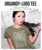 オーガンジー×メッセージロゴTシャツ
