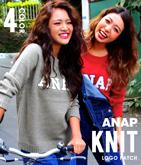 『ANAP』ロゴサガラ刺繍ニットトップス