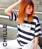 メッセージプリントボーダーTシャツ