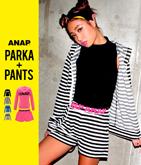 『ANAP』ロゴ薄手パーカー&ショートパンツ・2点セット