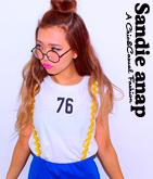 76プリントカットオフノースリーブTシャツ