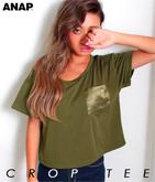 サテンポケットTシャツ