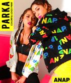 『ANAP』カラフル総ロゴBIGパーカー