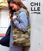 chilleロゴプレートトートバッグ