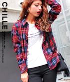 NETオリジナル Tシャツ×チェックシャツSET