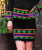 柄×フリンジスカート