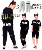 『ANAP』ロゴ2WAYスウェットパンツ【別売りSETUP】