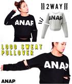 『ANAP』ロゴ2WAYスウェットトップス【別売りSETUP】