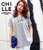 筆記体CHILLEロゴTシャツ
