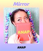 『ANAP』ロゴ合皮ミラー