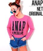 NETオリジナル 『ANAP』ロゴプリントロングTシャツ
