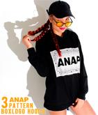 3パターンBOX『ANAP』ロゴBIGフーディー