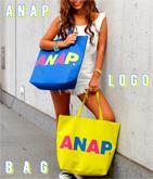2パターン『ANAP』ロゴトートバッグ
