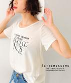 ロゴプリントAラインTシャツ