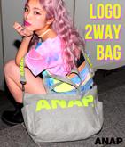 『ANAP』発泡ロゴ2WAYバッグ