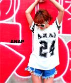 『ANAP』ロゴナンバリングTシャツ