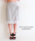 ビッグアイレット裾レースラップスカート
