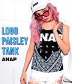 『ANAP』ロゴ両面ペイズリータンクトップ