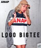 『ANAP』ロゴ配色BIGチュニックTシャツ