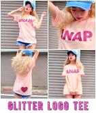 『ANAP』ロゴグリッターTシャツ