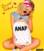 『ANAP』ロゴLIPプリントリュック