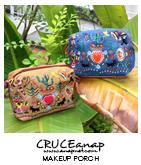 メキシカン刺繍ポーチ