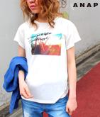フェスGIRL バックスリットTシャツ