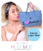 『ANAP』ロゴデニムバックインバッグ