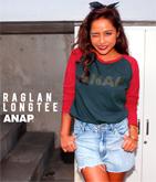 『ANAP』ロゴラグランロングTシャツ