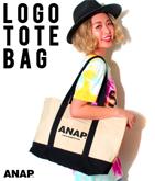 『ANAP』ロゴキャンバストートバッグ