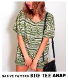 ネイティブ柄BIGTシャツ