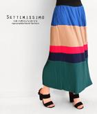 ブロックカラープリーツスカート