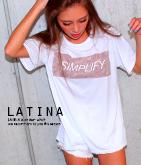 カモフラBOXロゴプリントTシャツ