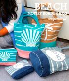 beachモチーフマルチカラートートバッグ