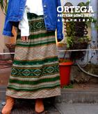 オルテガ柄ロングスカート
