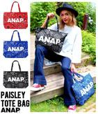 『ANAP』ロゴペイズリー柄トートバッグ