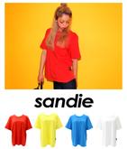 タグワンポイントカラーTシャツ