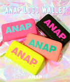『ANAP』ロゴ長財布