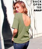 バックオープンデザインティーシャツ