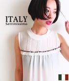 ITALY チロリアンテープフリンジトップス