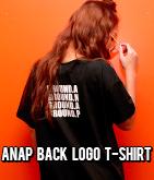 『ANAP』ロゴバックプリントポケット付Tシャツ