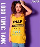 『ANAP』ロゴBIGチュニックタンク