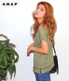 オルテガ刺繍フリンジTシャツ